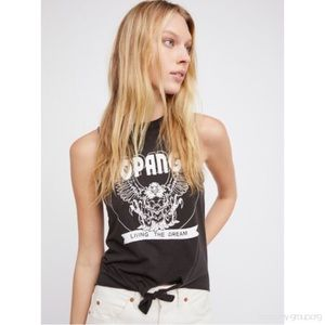Tops - Free People/Chaser tank graphic